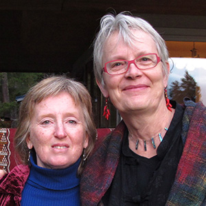 Sandy Bishop and Rhea Miller