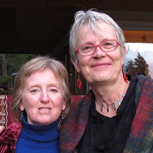 Sandy Bishop and Rhea Miller