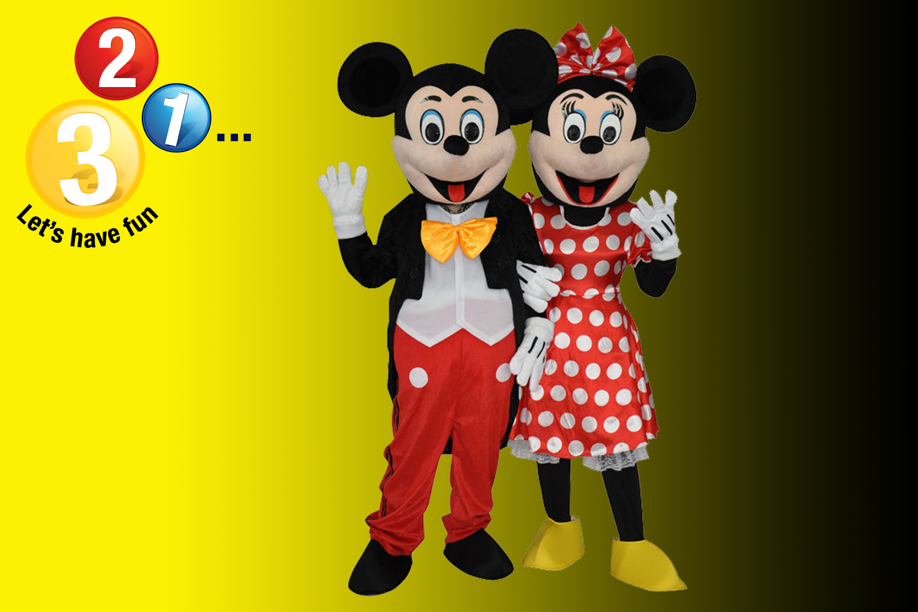 Mickey Mouse and Minnie Mouse Character Appearance Oxfordshire