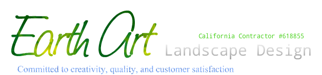 Earth Art landscape design. California contractor #618855. Committed to creativity, quality and customer satisfaction.