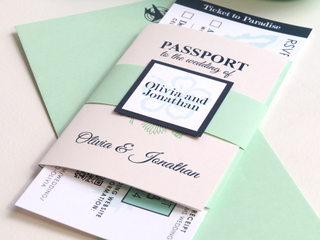 DestinationWeddingPassportInvitationsBoardingPassLuggageTagRSVP