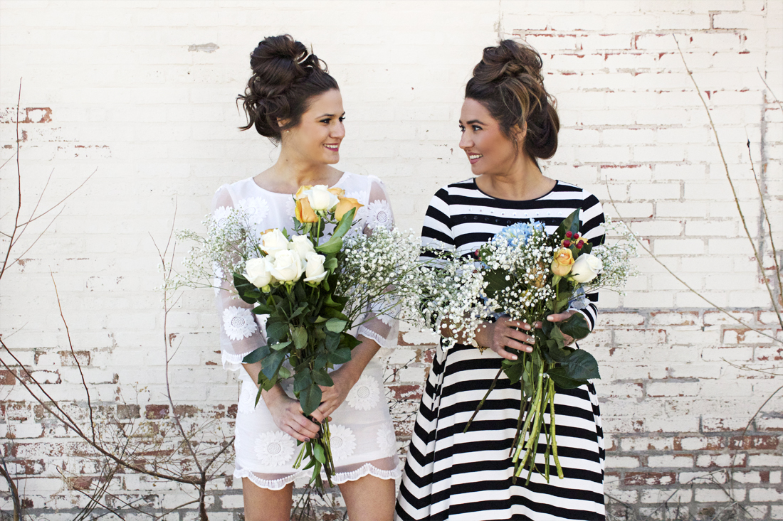spring lookbook inspiration with flowers