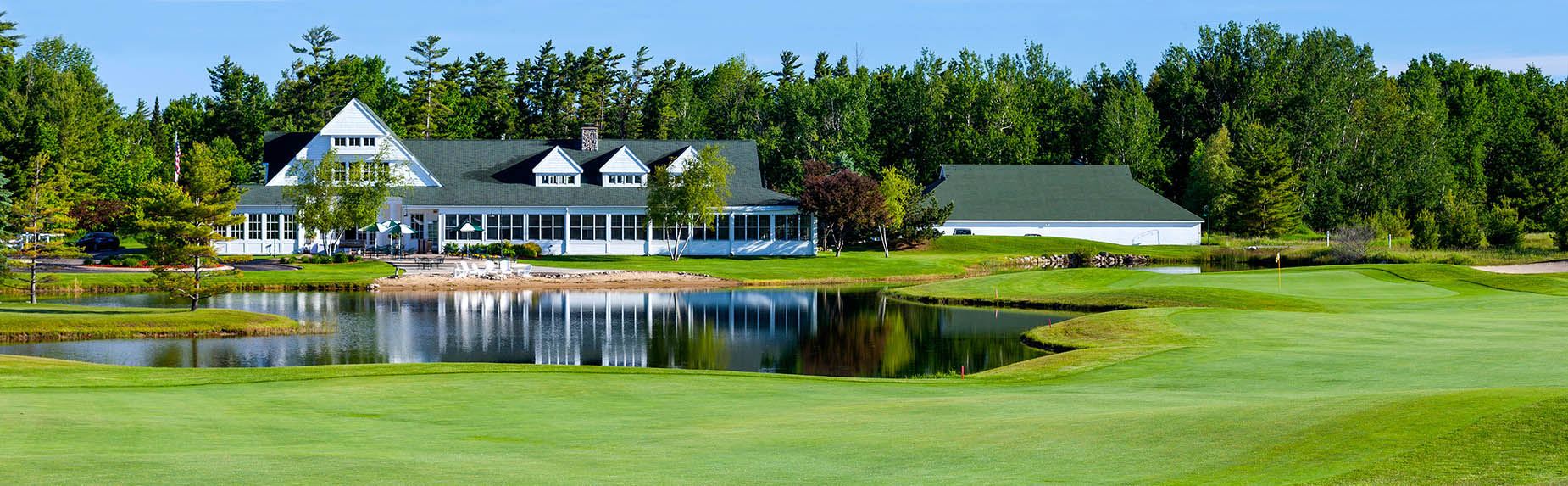 Charlevoix Country Club clubhouse, restaurant, proshop and health club