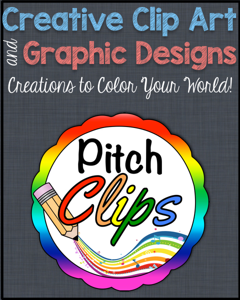 This is Pitch Clips, the home of amazing  resources for teacherprenuers who are ready for some amazing clip art and other amazing graphics! #pitchclips #tpt #teacherprenuer