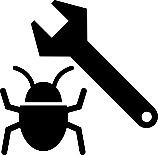 Bug affecting a Wordpress website and a wrench.