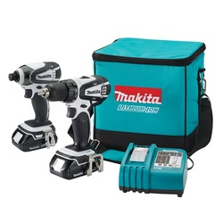 Makita LCT200W 18 Volt Compact Li-Ion Cordless 2 Piece Combo Kit