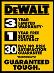 Dewalt Cordless Drill - Warranty