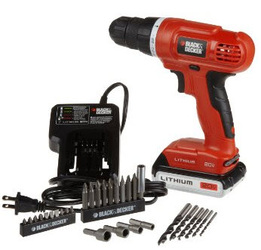 Black & Decker LD120VA 20 Volt MAX Lithium-Ion Drill, Driver + 30 Accessories