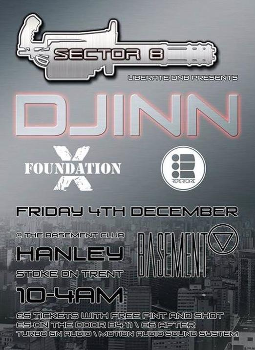 Djinn @ Sector 8, Stoke on Trent - drum & bass dnb jungle
