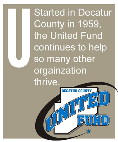 U - Started in Decatur County in 1959, the United Fund continues to help so many other orgainzations thrive.