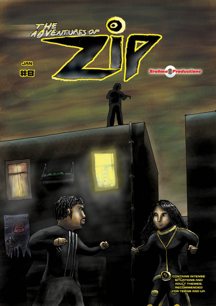 The Adventures of Zip: Issue 7, Cover
