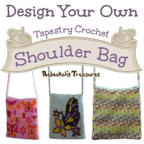 FREE Design a Tapestry Bag Crochet Pattern PDF by Rebeckah's Treasures! Grab your copy today here: http://goo.gl/dT3oHx #crochet #pattern #bag #accessory #tapestry