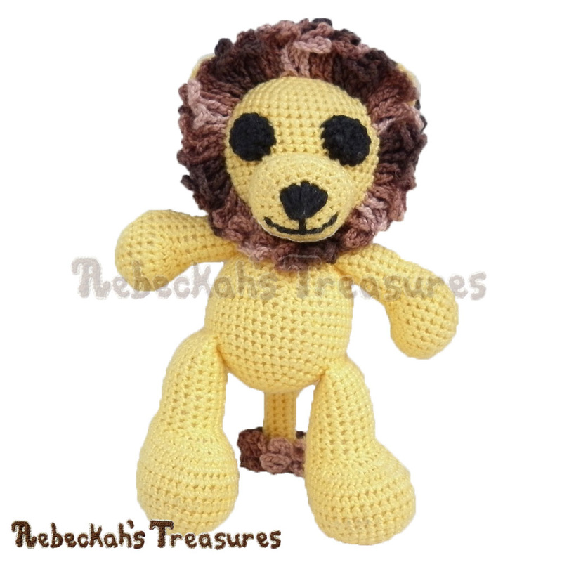 Amigurumi Abayomi Lion Crochet Pattern PDF $2.95 by Rebeckah's Treasures! Grab your copy today here: http://goo.gl/wPZ9Sl #crochet #pattern #toys #lion #softy #amigurumi #abayomi