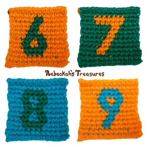 Free Tapestry Crochet ABC Blocks Pattern by Rebeckah's Treasures #crochet #pattern #toys #abc #123 #blocks