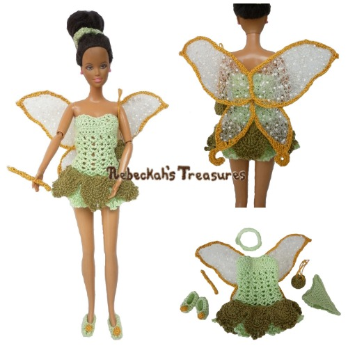 Fairy Fashion Doll Crochet Pattern PDF $6.00 by Rebeckah's Treasures! Grab your copy today here: http://goo.gl/h7D9MU #crochet #pattern #barbie #fairy #tinkerbell #toys