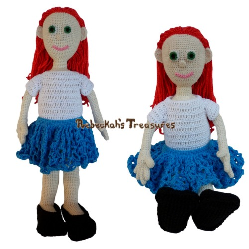 Style Me Dolly's First Outfit Crochet Pattern PDF $1.50 by Rebeckah's Treasures! Try if for FREE on the Blog or Grab your copy today here: http://goo.gl/PnjzjM #crochet #pattern #doll #toys