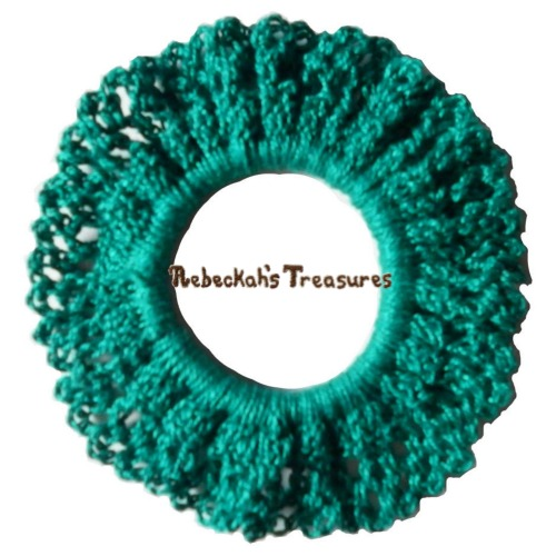 FREE Easy Scrunchy Crochet Pattern PDF by Rebeckah's Treasures! Grab your copy today here: http://goo.gl/l1DbxG #crochet #pattern #accessory #hair
