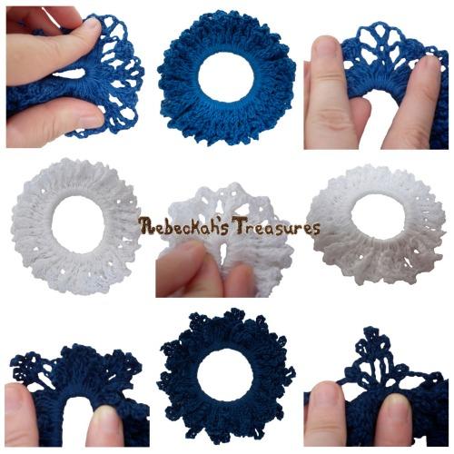 3 Winter Crochet Scrunchies from Vol. 1 Pattern PDF $1.50 by Rebeckah's Treasures! Grab your copy today here: http://goo.gl/1mXFxC #crochet #pattern #accessory #scrunchy