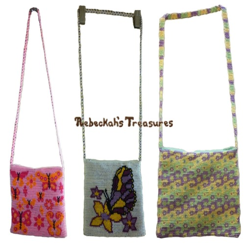 3 Tapestry Crochet Shoulder Bags Pattern Bundle PDF $7.75 by Rebeckah's Treasures! Grab your copy today here: http://goo.gl/bbe3FT #crochet #pattern #tapestry #accessory #bag