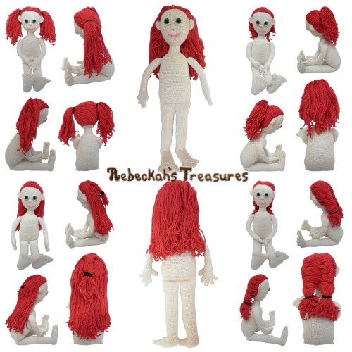 Style Me Dolly Crochet Pattern PDF $5.00 by Rebeckah's Treasures! Grab your copy today here: http://goo.gl/zhcjN2 #crochet #pattern #doll #amigurumi #toys