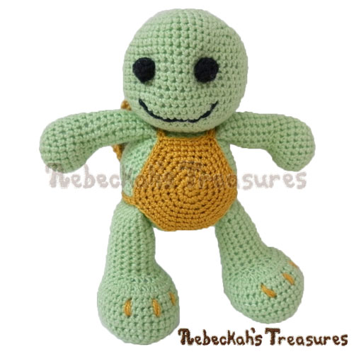 Amigurumi Timothy Turtle Crochet Pattern PDF $2.95 by Rebeckah's Treasures! Grab your copy today here: http://goo.gl/mKUrDc #crochet #pattern #toys #turtle #softy #amigurumi