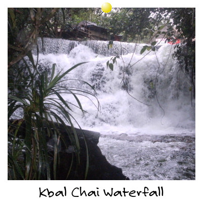 View of Kbal Chai Waterfall Sihanoukville Cambodia