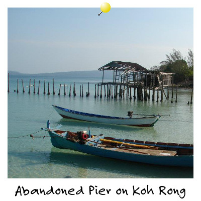 View of an abandoned Pier on Koh Rong Island Cambodia