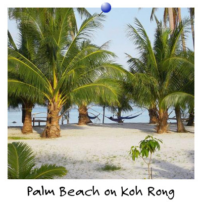 View of Palm Beach on Koh Rong Island Sihanoukville Cambodia