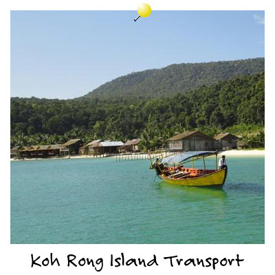View of a Local Boat at Koh Rong Island Sihanoukville Cambodia
