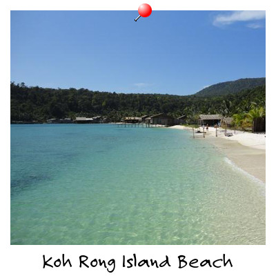 View of Sok San Beach on Koh Rong Island Sihanoukville Cambodia