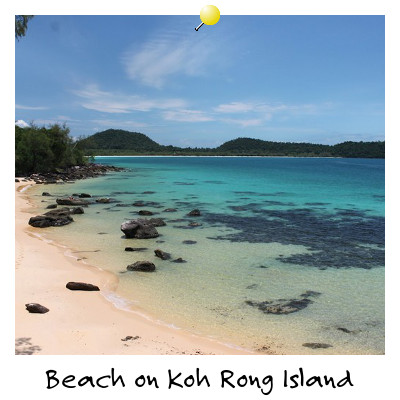 View from the Beach on Koh Rong Island Sihanoukville Cambodia
