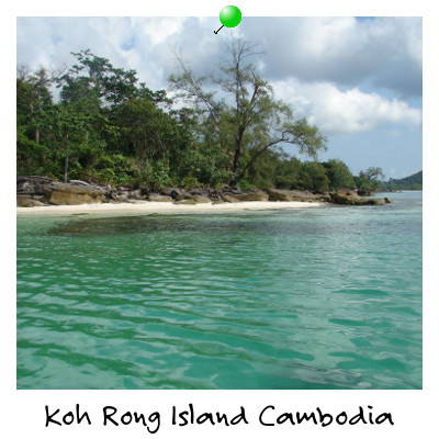 View from a boat of Koh Rong Island Sihanoukville Cambodia