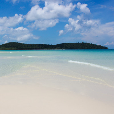 Seaview from Beach on Koh Rong Island Sihanoukville Cambodia