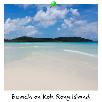 View from Koh Rong Island Beach Sihanoukville Cambodia