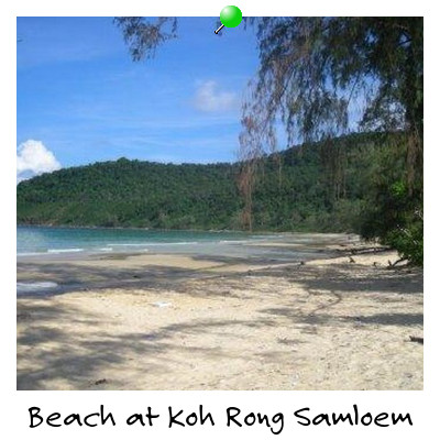 View of a Deserted Beach on Koh Rong Samloem Island Sihanoukville Cambodia