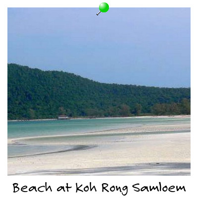 View of Saracen Bay on Koh Rong Samloem Island Sihanoukville Cambodia