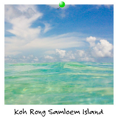 Swimming at Koh Rong Samloem Island Cambodia