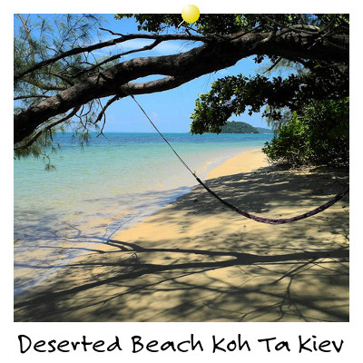 View of a Deserted Beach on Koh Ta Kiev Island Sihanoukville Cambodia