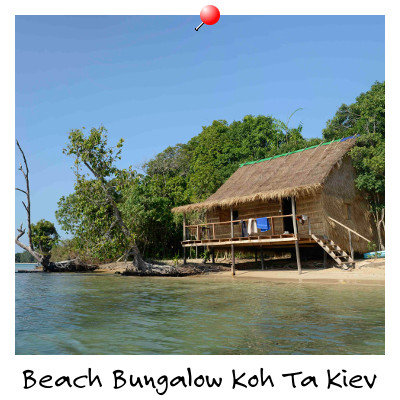View of a Beach Bungalow on Koh Ta Kiev Island Sihanoukville Cambodia