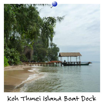 Looking towards the Boat Dock on Koh Thmei Island Sihanoukville Cambodia