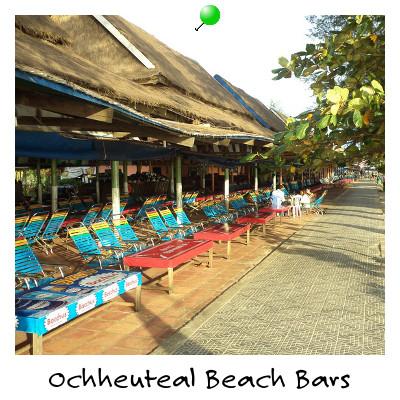 View of Ochheuteal Bach Bars Sihanoukville Cambodia