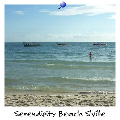 Sea View from Serendipity Beach Sihanoukville Cambodia