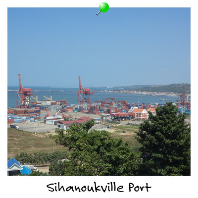View of Sihanoukville Port Sihanoukville Cambodia from Weather Station Hill