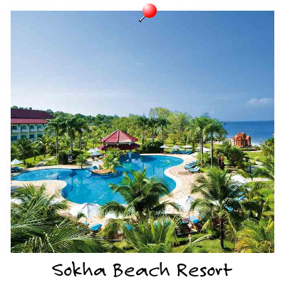 Aerial view of Sokha Beach Resort Sokha Beach Sihanoukville Cambodia