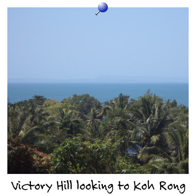 Looking out towards Koh Rong Island from Victory Hill Sihanoukville Cambodia