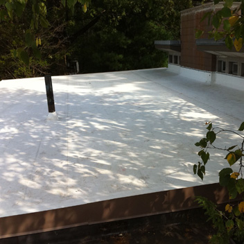 Fully-adhered TPO Roof