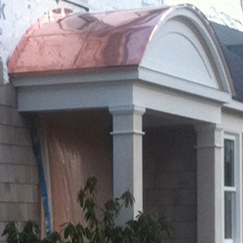 copper portico roof