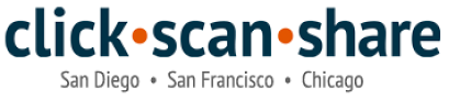 Click Scan Share: One Stop Photo Shop Online or in San Diego, San Francisco, Chicago.