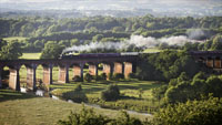 Steam over Whalley Arches