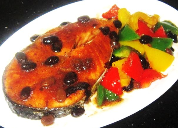 Black Bean Salmon With Capsicum Recipe